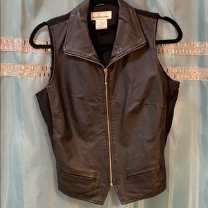 Tops - Women's leather and spandex vests